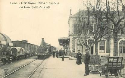 """CPA FRANCE 69 """"Givors, la gare"""" / TRAIN"""