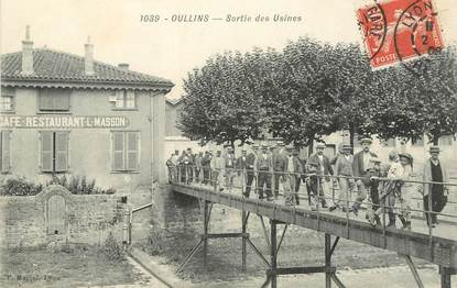 "CPA FRANCE 69 ""Oullins, sortie des Usines"""