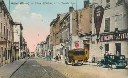 "CPA FRANCE 69 ""Oullins, la grande rue"""
