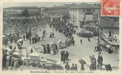 """CPA FRANCE 69 """"Dardilly le Bas, fête du 20 mai 1909, Défilé des Ecoles"""""""