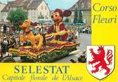 "67 Ba Rhin / CPSM FRANCE 67 ""Selestat, corso Fleuri """