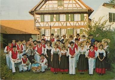 """/ CPSM FRANCE 67 """"Truchterheim"""" / GROUPE FOLKLORIQUE"""