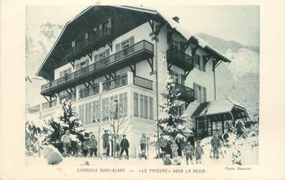 """/ CPA FRANCE 74 """"Chamonix Mont Blanc, le prieuré sous la neige"""""""
