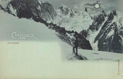 "/ CPA FRANCE 74 ""Chamonix, les Jorasses"""