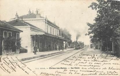 "/ CPA FRANCE 74 ""Evian Les Bains, la gare"""