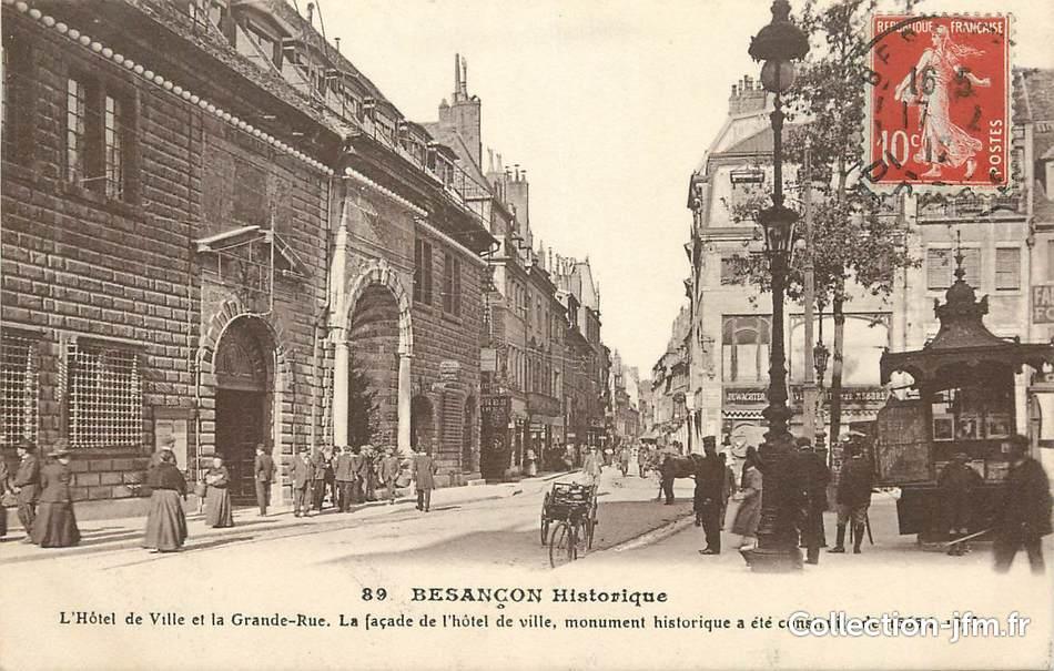 Cpa france 25 besan on historique hotel de ville et for 25 besancon