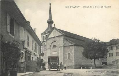 """/ CPA FRANCE 74 """"Frangy, hôtel de la poste et l'église"""""""