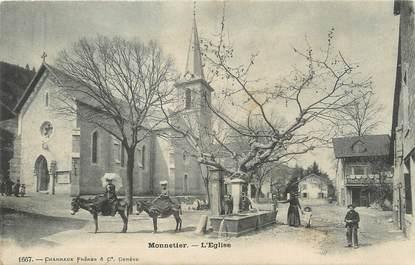 """/ CPA FRANCE 74 """"Monnetier, l'église"""""""