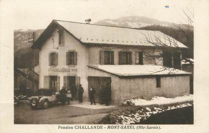 "/ CPA FRANCE 74 ""Mont Saxel, pension Challande"""