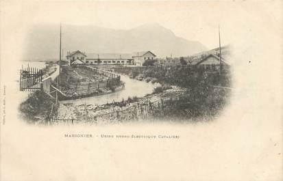 """/ CPA FRANCE 74 """"Marignier, usine Hydro Electrique Cavalieri"""""""