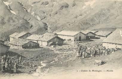 "/ CPA FRANCE 74 ""Moëde, chalets de Montagne"""
