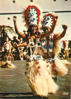CPSM TAHITI Couples de danseurs