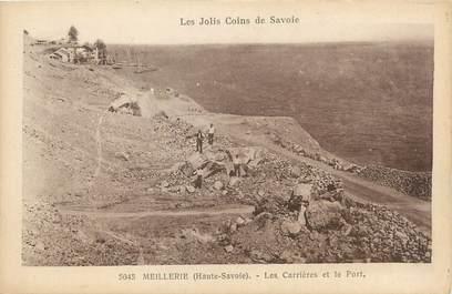 """/ CPA FRANCE 74 """"Meillerie, les carrières et le port"""""""