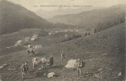 """/ CPA FRANCE 74 """"Mont Saxonnex, hameau de Morsulaz"""""""