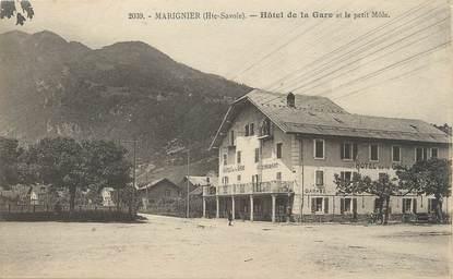 """/ CPA FRANCE 74 """"Marignier, hôtel de la gare"""""""