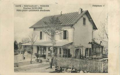 "/ CPA FRANCE 74 ""Pers Jussy Loisinges, café restaurant Marius Schlibs"""