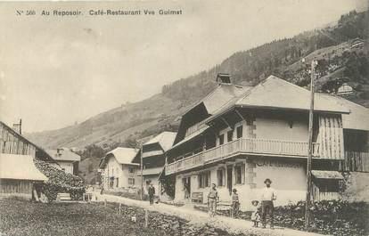 """/ CPA FRANCE 74 """"Au reposoir, Café restaurant Vve Guimet"""""""