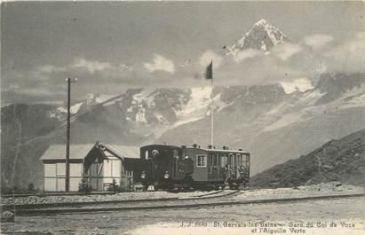 """/ CPA FRANCE 74 """"Saint Gervais Les Bains, gare du col de Voza"""""""