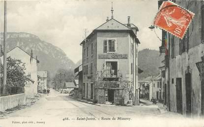 """/ CPA FRANCE 74 """"Saint Jeoire, route de Mieussy"""""""