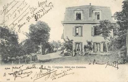"""/ CPA FRANCE 74 """"Saint Cergues, hôtel des Cerisiers"""""""
