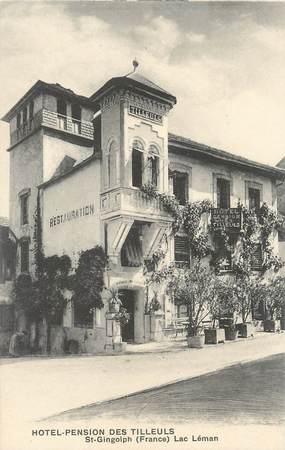 """/ CPA FRANCE 74 """"Saint Gingolph, hôtel pension des Tilleuls"""""""