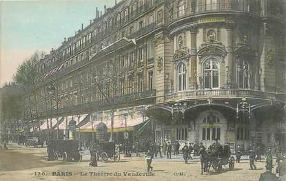 """/ CPA FRANCE 75002 """"Paris, le théâtre de Vaudeville"""" / Ed. C.M"""