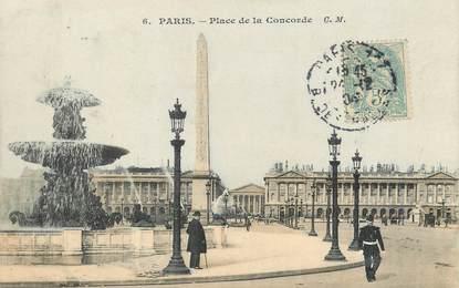 """/ CPA FRANCE 75001""""Paris, place de la concorde"""" / Ed. C.M"""