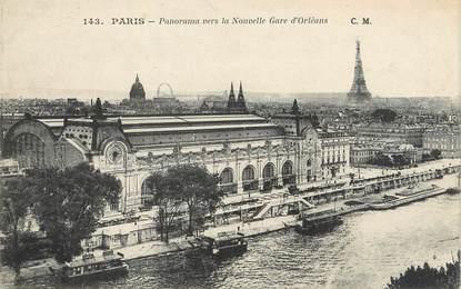 """/ CPA FRANCE 75007 """"Paris, panorama vers la nouvelle Gare d'Orléans"""" / Ed. C.M"""