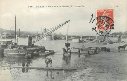 """/ CPA FRANCE 75015 """"Paris, vue sur la Seine à Grenelle"""" / Ed. C.M"""