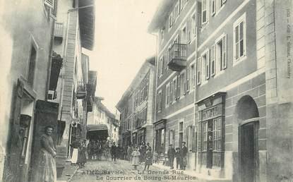 """CPA FRANCE 73 """"Aime, la grande rue, le courrier de Bourg Saint Maurice"""""""