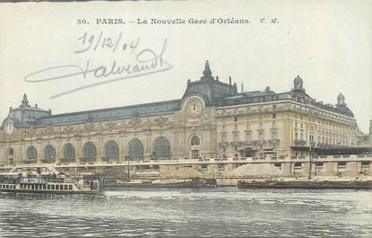 """/ CPA FRANCE 75007 """"Paris, la nouvelle gare d'Orléans"""" / Ed. C.M"""