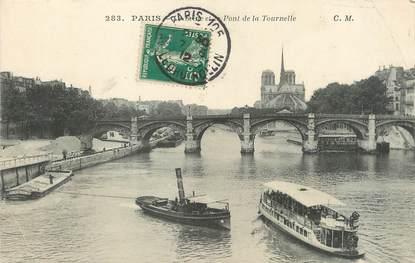 """/ CPA FRANCE 75004 """"Paris, la Seine et le pont de la Tournelle"""" / Ed. C.M"""