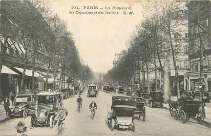 """/ CPA FRANCE 75002 """"Paris, les Boulevards des Capucines et des Italiens"""" / Ed. C.M"""