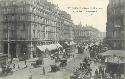 """/ CPA FRANCE 75002 """"Paris, rue Saint Lazare et hôtel Terminus"""""""