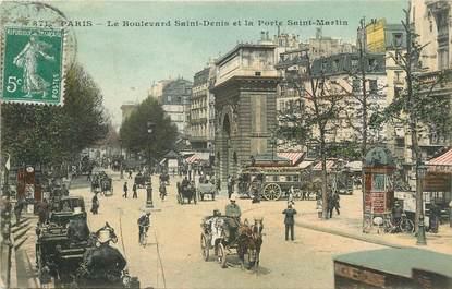 """/ CPA FRANCE 75003 """"Paris, le Bld Saint Denis et la porte Saint Martin"""" / Ed. C.M"""