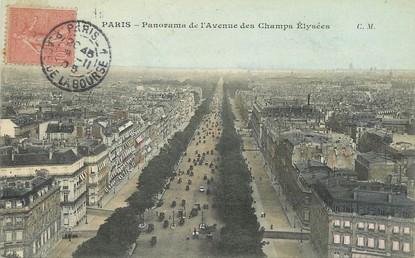 """/ CPA FRANCE 75008 """"Paris, panorama de l'avenue des Champs Elysées"""" / Ed. C.M"""