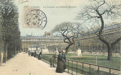 "/ CPA FRANCE 75001 ""Paris, le jardin du palais Royal"" / Ed. C.M"