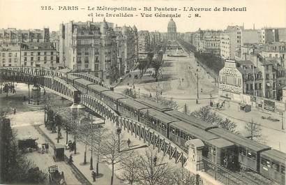 """/ CPA FRANCE 75007 """"Paris, le métropolitain, bld Pasteur"""" / Ed. C.M"""