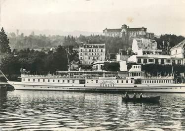 """/ CPSM FRANCE 74 """"Evian Les Bains, le port et l'hôtel Royal"""""""