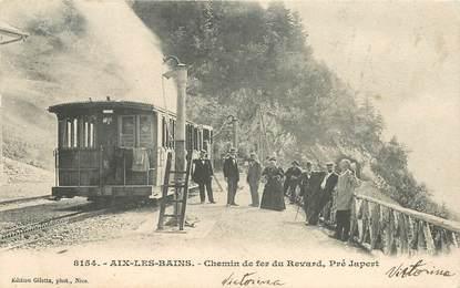 """CPA FRANCE 73 """"Aix les Bains, chemin de  fer du Revard"""" / TRAIN"""