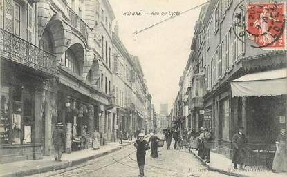 """CPA FRANCE 42 """"Roanne, la rue du  Lycée"""""""