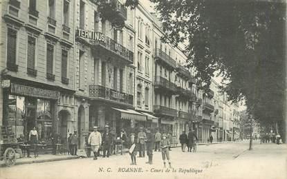 """CPA FRANCE 42 """"Roanne, cours de la République"""""""