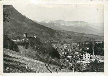 """/ CPSM FRANCE 74 """"Faverges, les usines de soierie et le château"""""""