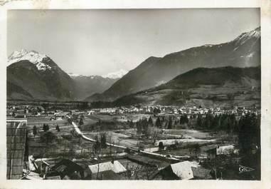 """/ CPSM FRANCE 74 """"Faverges, vue générale et le Mont Blanc"""""""