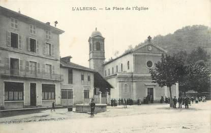 """/ CPA FRANCE 38 """"L'Albenc, la place de l'église"""""""