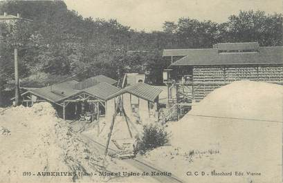 "/ CPA FRANCE 38 ""Auberives, mine et usine de Kaolin"""