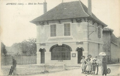 """/ CPA FRANCE 38 """"Apprieu, hôtel des postes"""""""