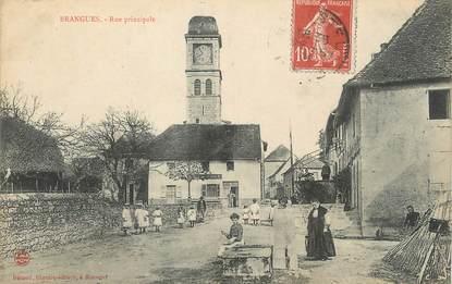 "/ CPA FRANCE 38 ""Brangues, rue principale"""