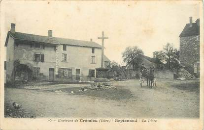 "/ CPA FRANCE 38 ""Beptenoud, la place"""