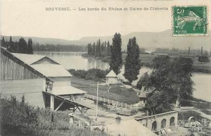 """/ CPA FRANCE 38 """"Bouvesse, les bords du Rhône"""""""